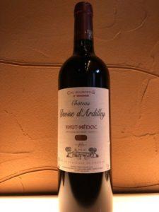 メドックの赤ワイン